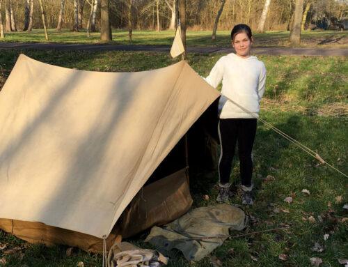 Jaren 30 kamperen: Mijn tentje uitproberen